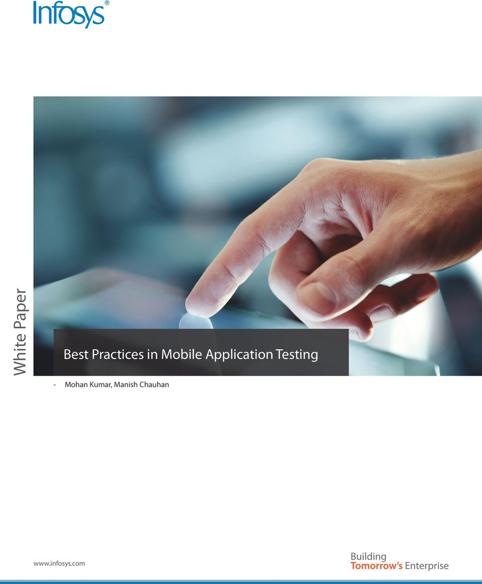 Application Testing - Mohan