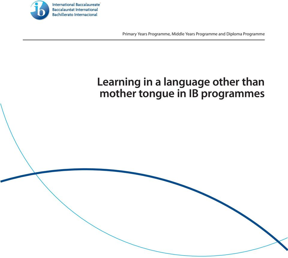 Programme Learning in a language