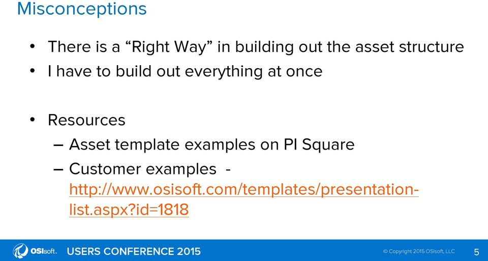 Resources Asset template examples on PI Square Customer