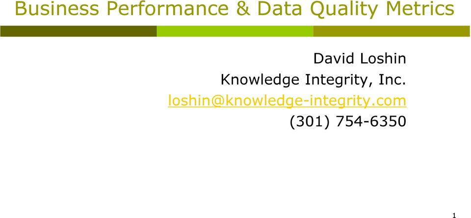 Knowledge Integrity, Inc.