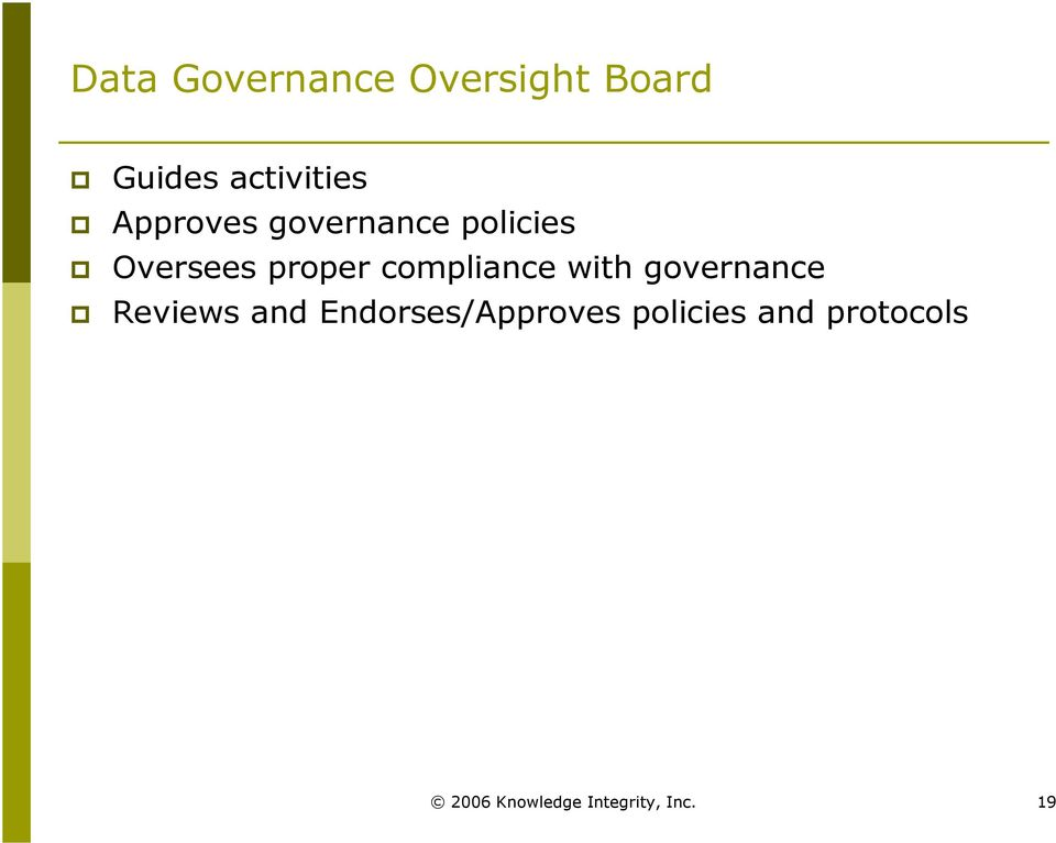 compliance with governance Reviews and