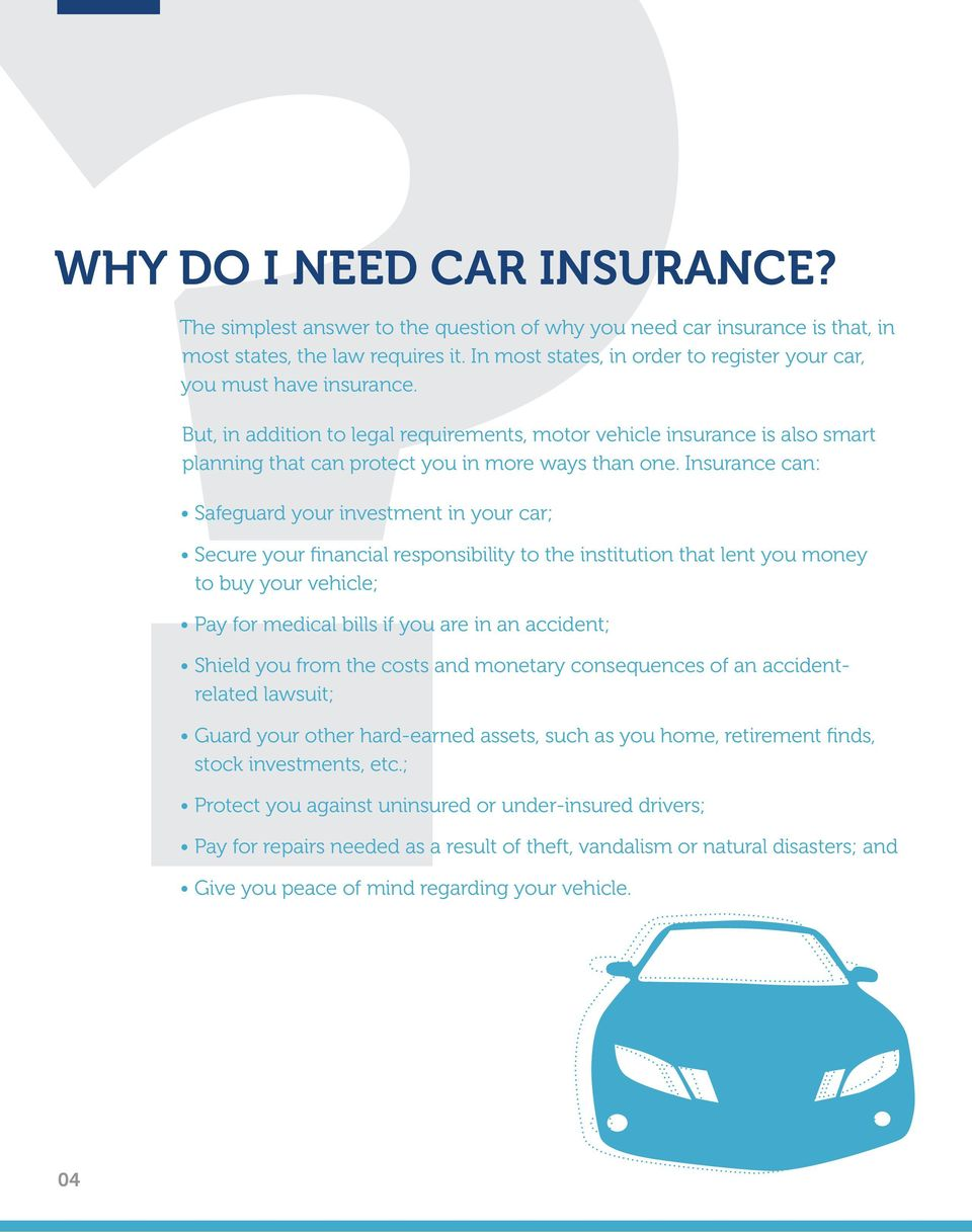 But, in addition to legal requirements, motor vehicle insurance is also smart planning that can protect you in more ways than one.