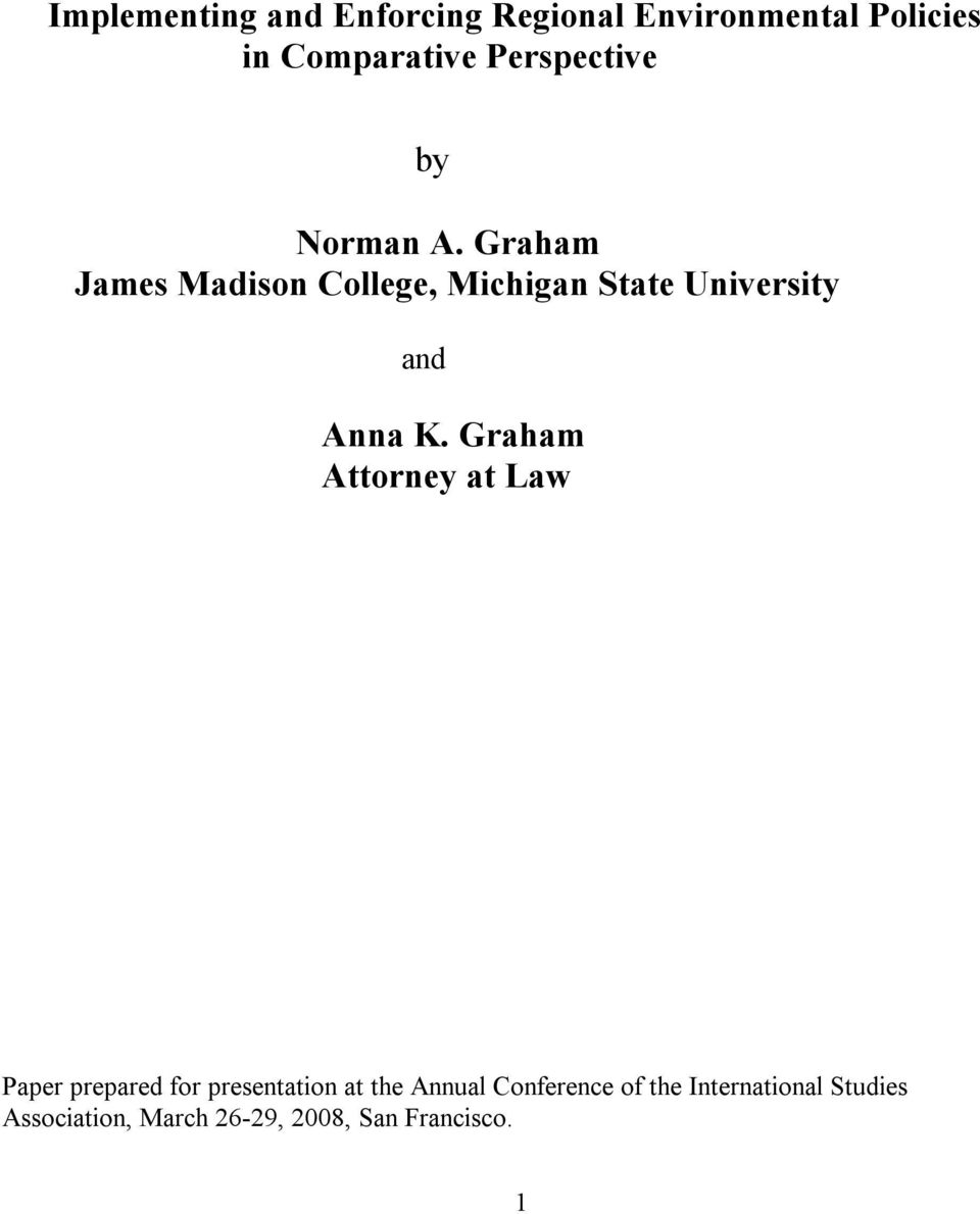 Graham James Madison College, Michigan State University and Anna K.