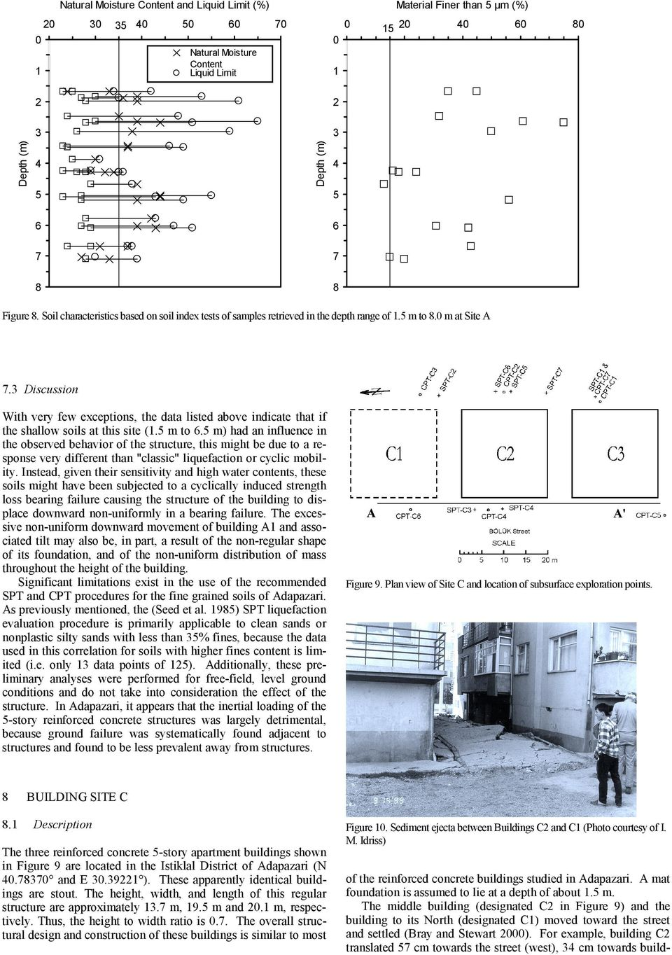 Discussion With very few exceptions, the data listed above indicate that if the shallow soils at this site (. m to.