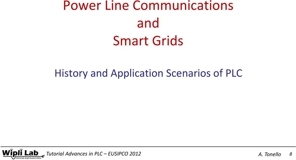 Smart Grids History