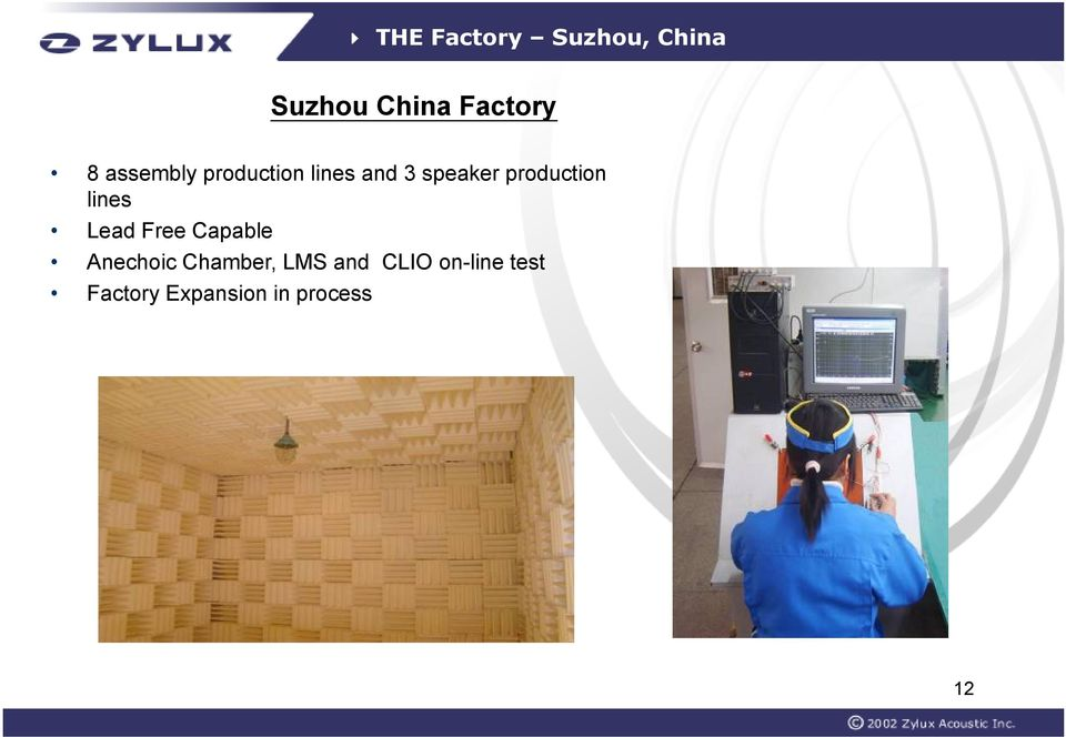 production lines Lead Free Capable Anechoic