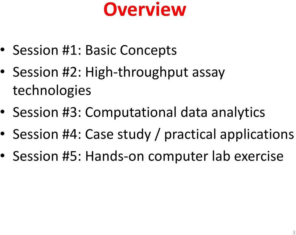 Computational data analytics Session #4: Case study /