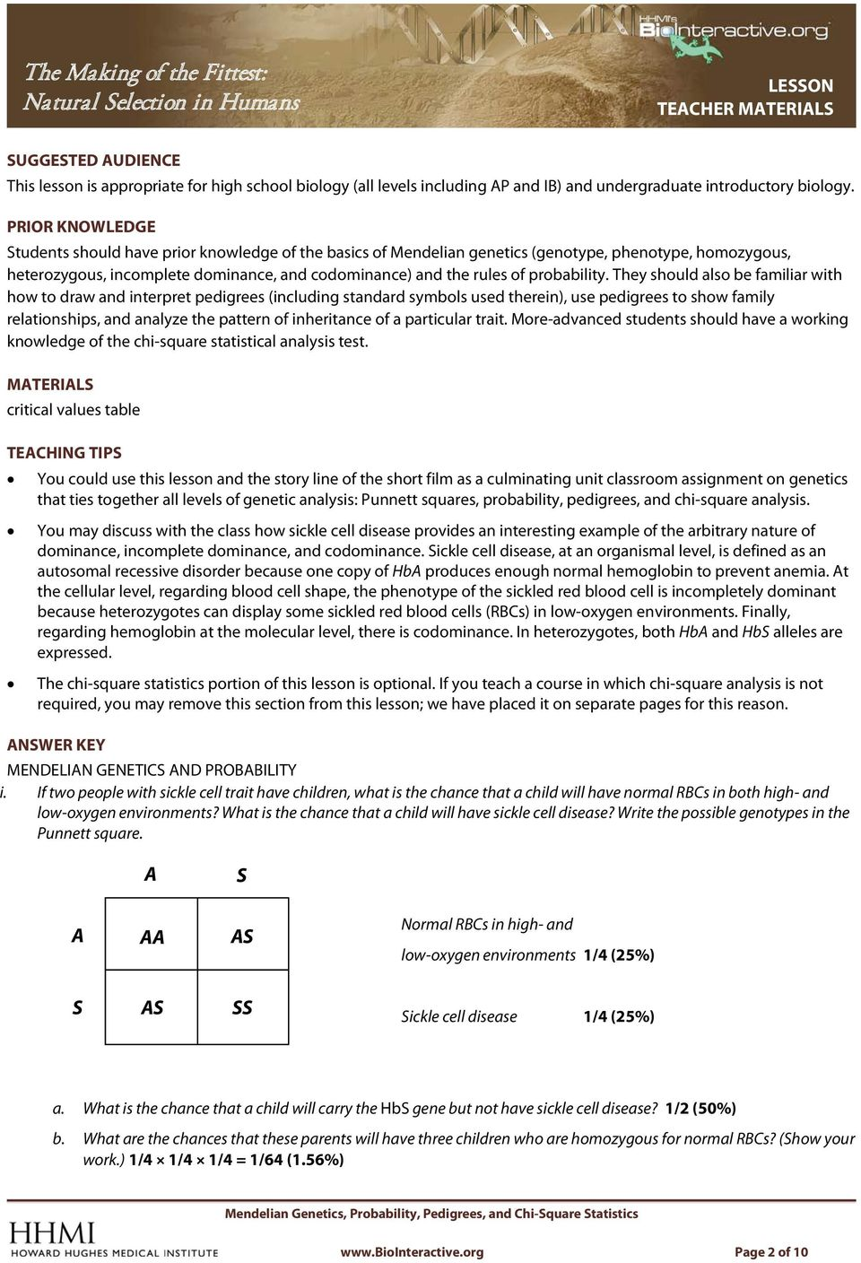 worksheet Genetics And Probability Worksheet the making of fittest natural selection in humans pdf probability