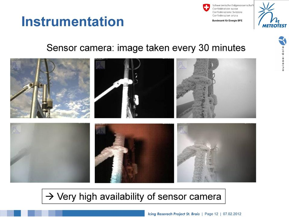 availability of sensor camera Icing