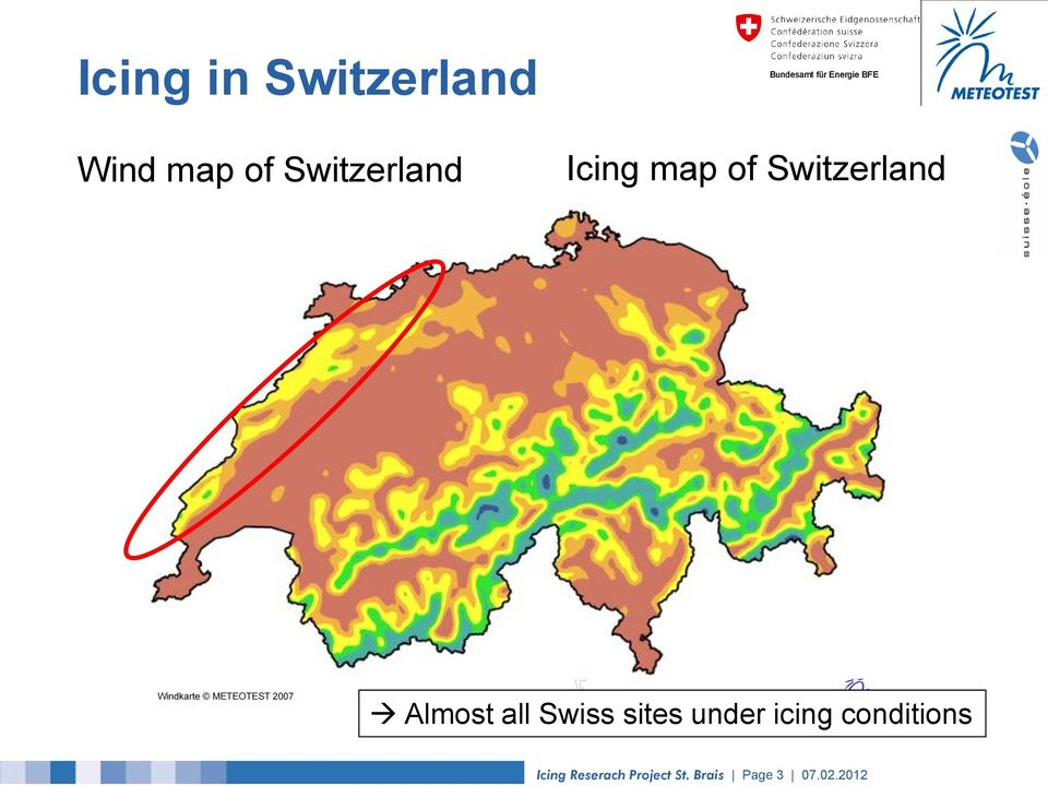 Almost all Swiss sites under icing
