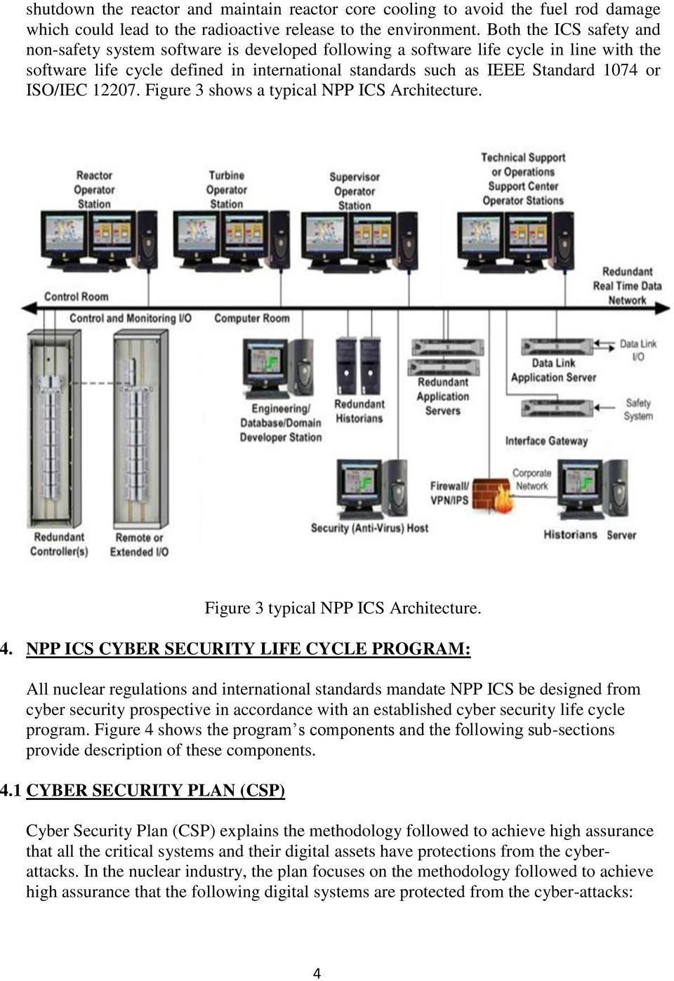 ISO/IEC 12207. Figure 3 shows a typical NPP ICS Architecture. Figure 3 typical NPP ICS Architecture. 4.
