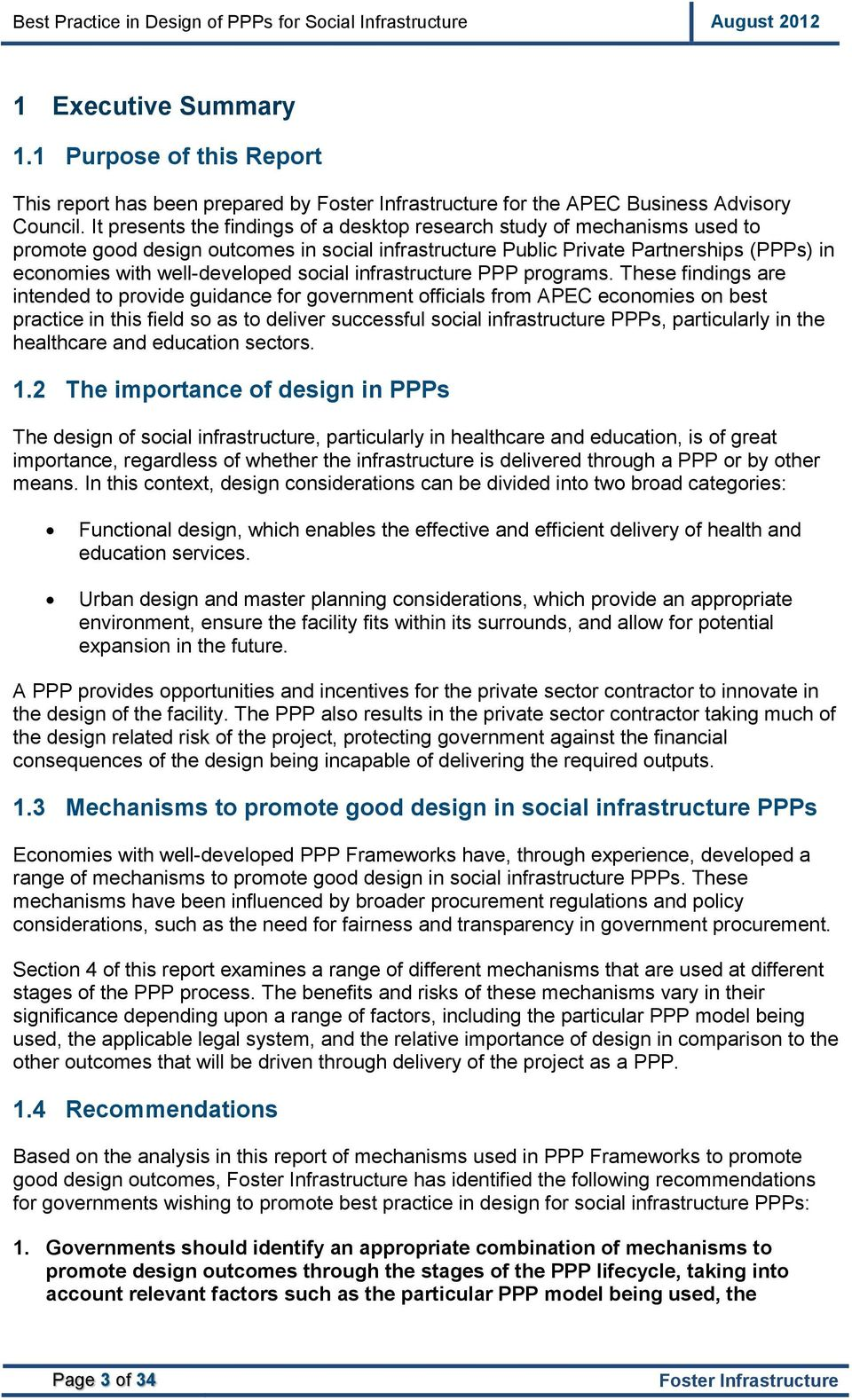 social infrastructure PPP programs.