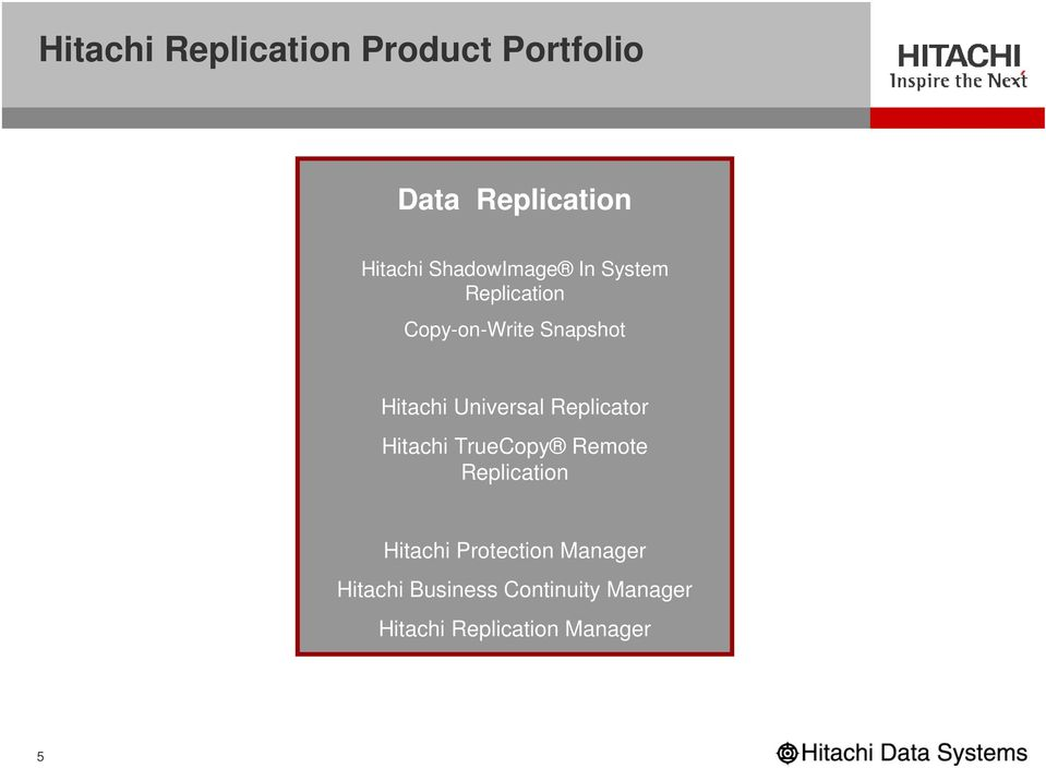 Universal Replicator Hitachi TrueCopy Remote Replication Hitachi