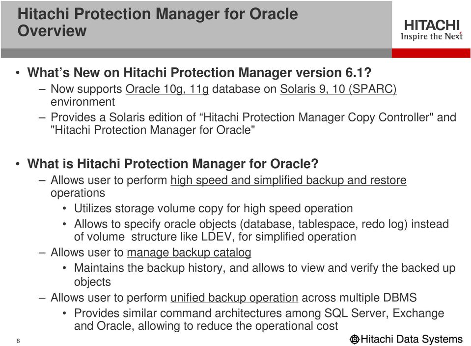 is Hitachi Protection Manager for Oracle?