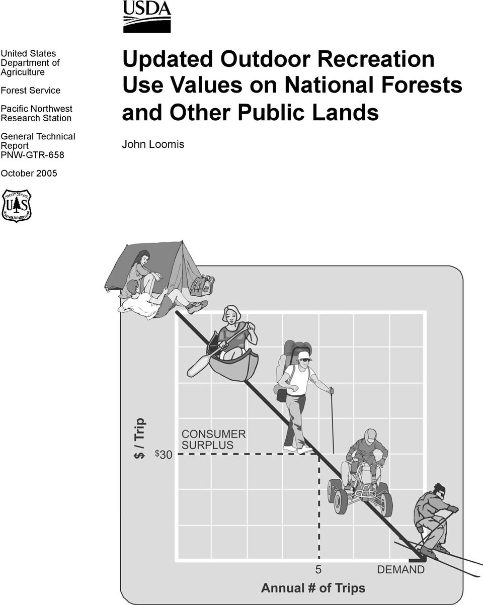 Report PNW-GTR-658 Updated Outdoor Recreation Use Values