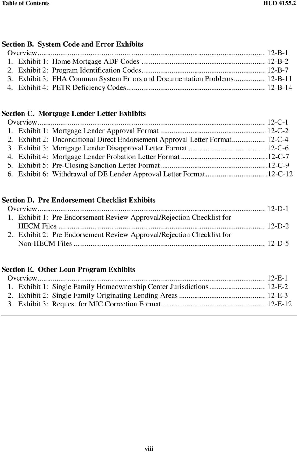 HUD Lender S Guide To The Single Family Mortgage