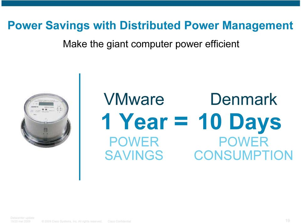 power ef f icient VMware 1 Year POWER S A V I N G S