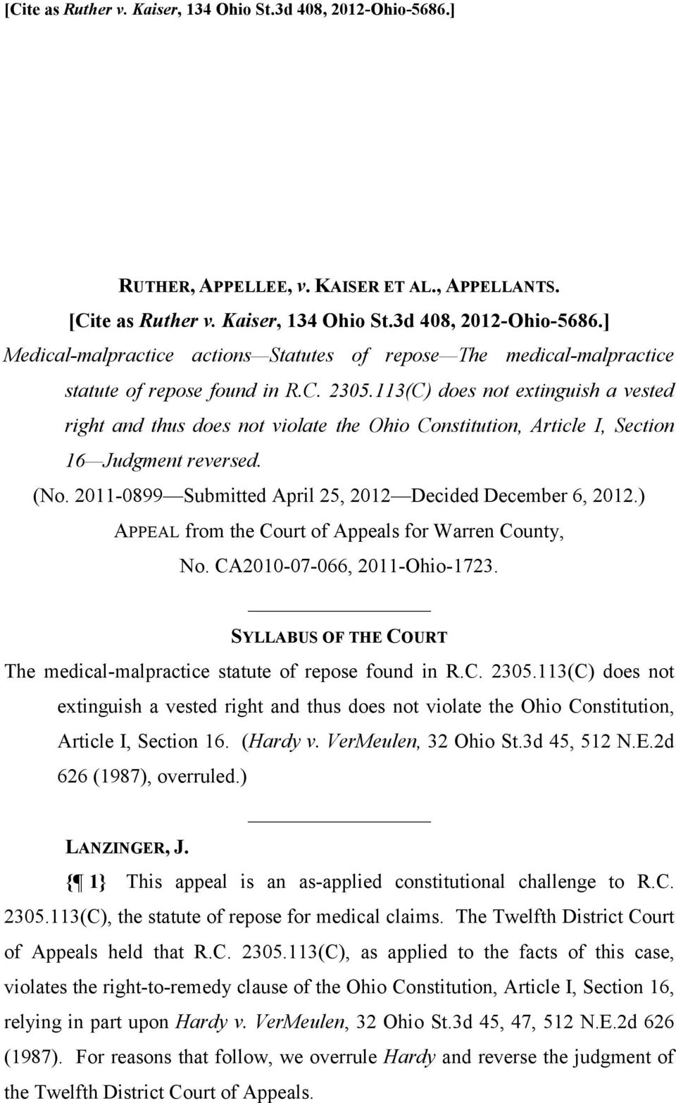 2011-0899 Submitted April 25, 2012 Decided December 6, 2012.) APPEAL from the Court of Appeals for Warren County, No. CA2010-07-066, 2011-Ohio-1723.