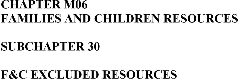 CHILDREN RESOURCES