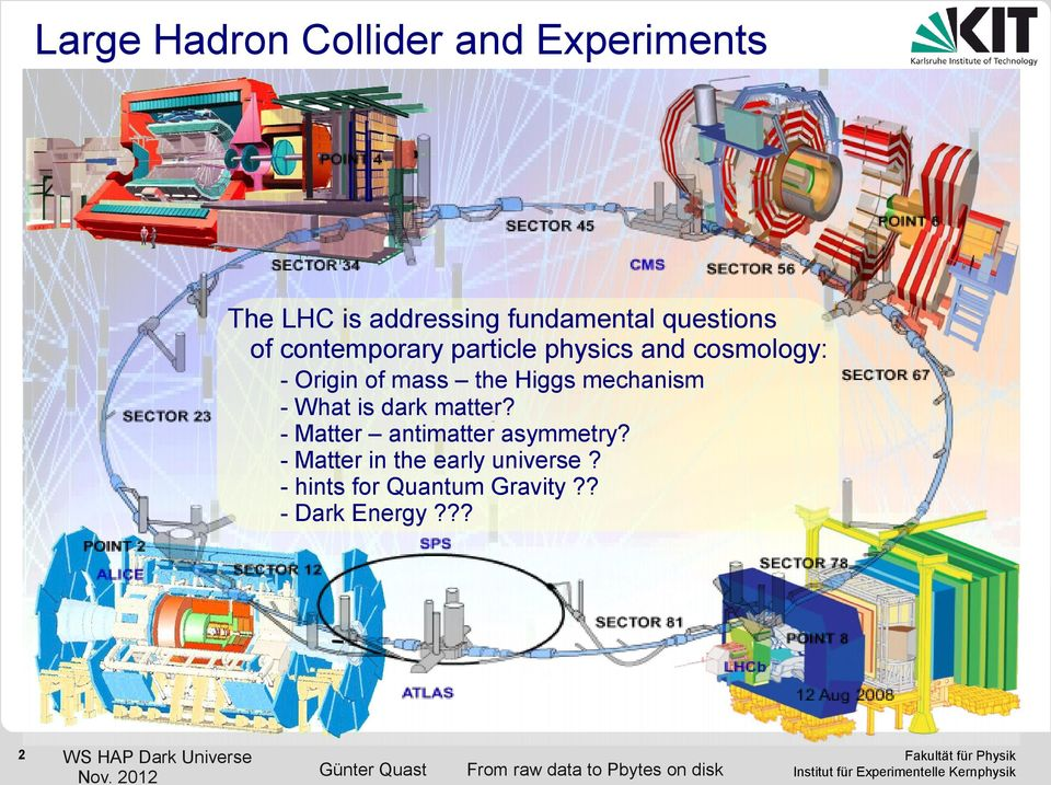 the Higgs mechanism - What is dark matter? - Matter antimatter asymmetry?