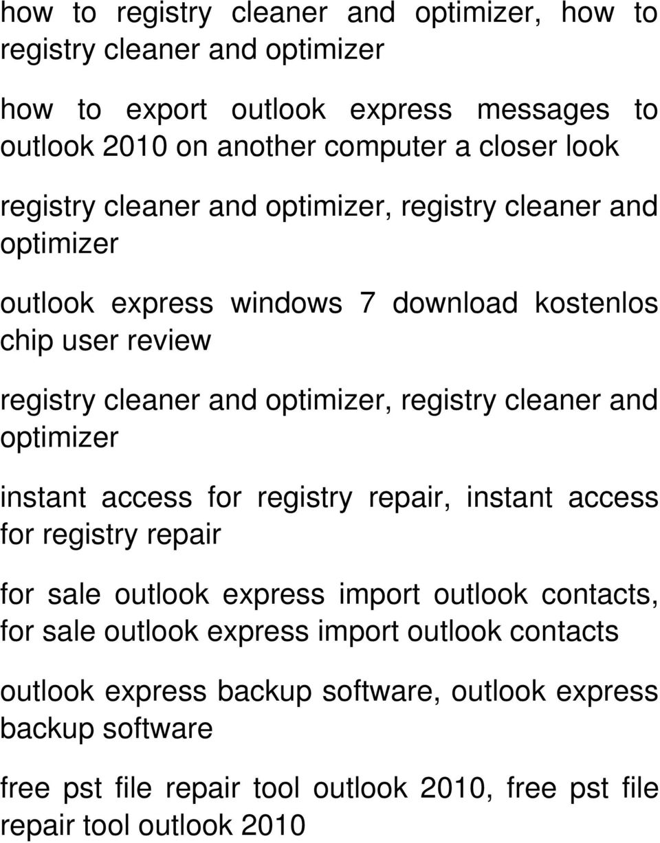 access for registry repair for sale outlook express import outlook contacts, for sale outlook express import outlook contacts
