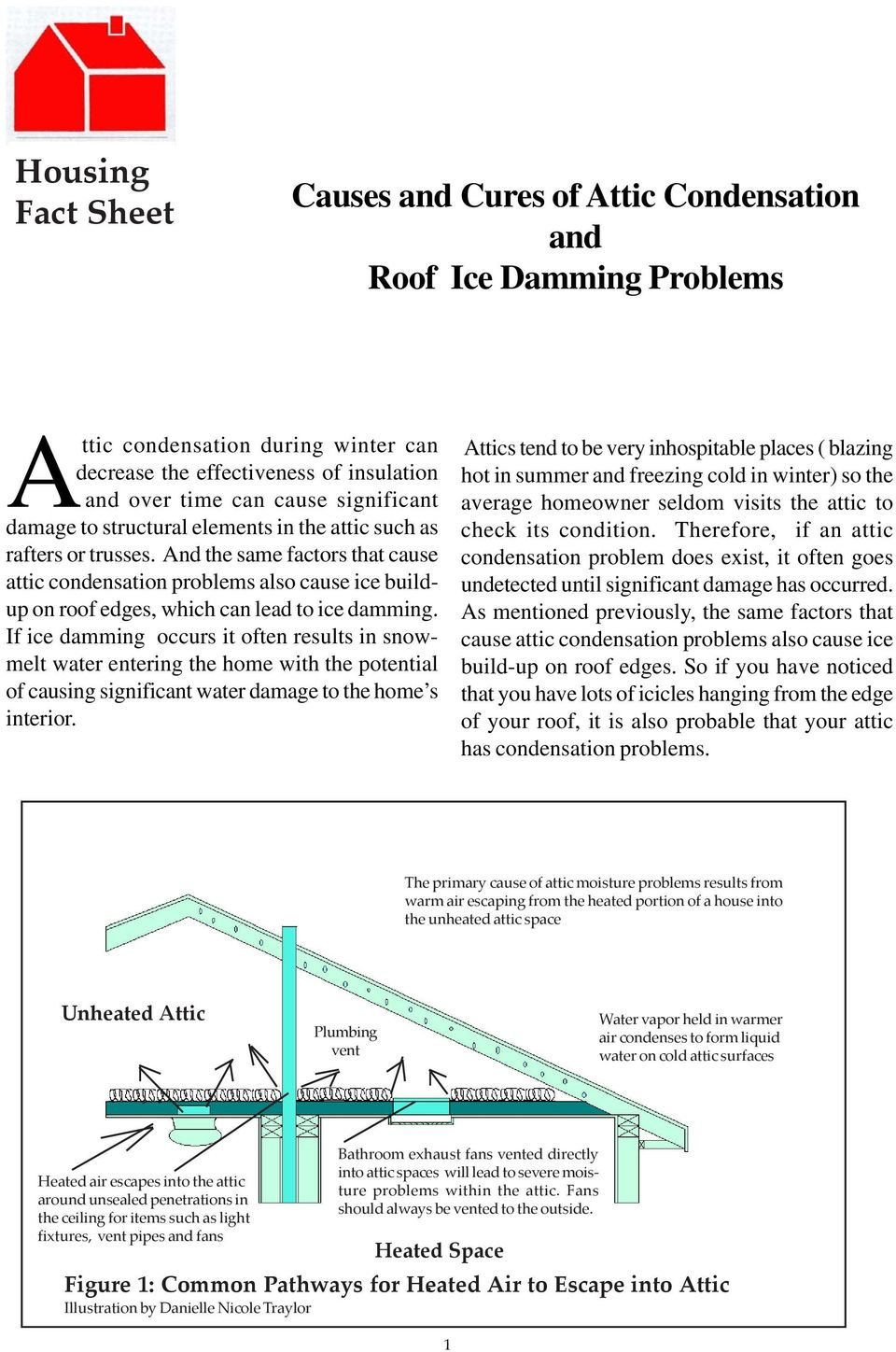 And the same factors that cause attic condensation problems also cause ice buildup on roof edges, which can lead to ice damming.
