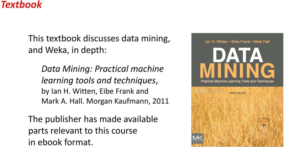 Data Mining Practical Machine Learning Tools And Techniques Ebook
