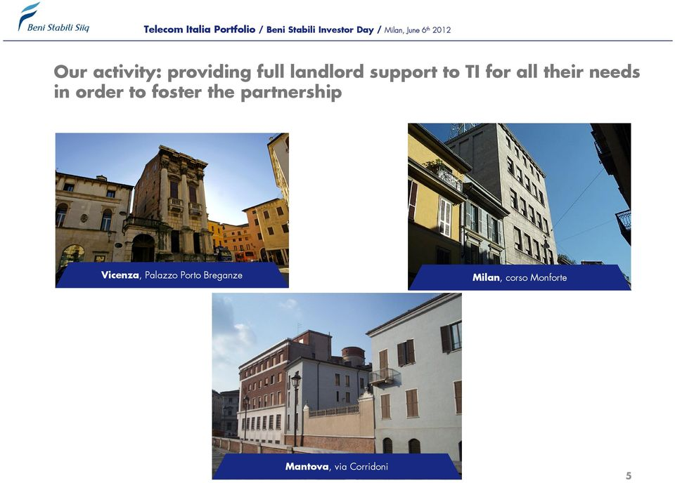 the partnership Vicenza, Palazzo Porto