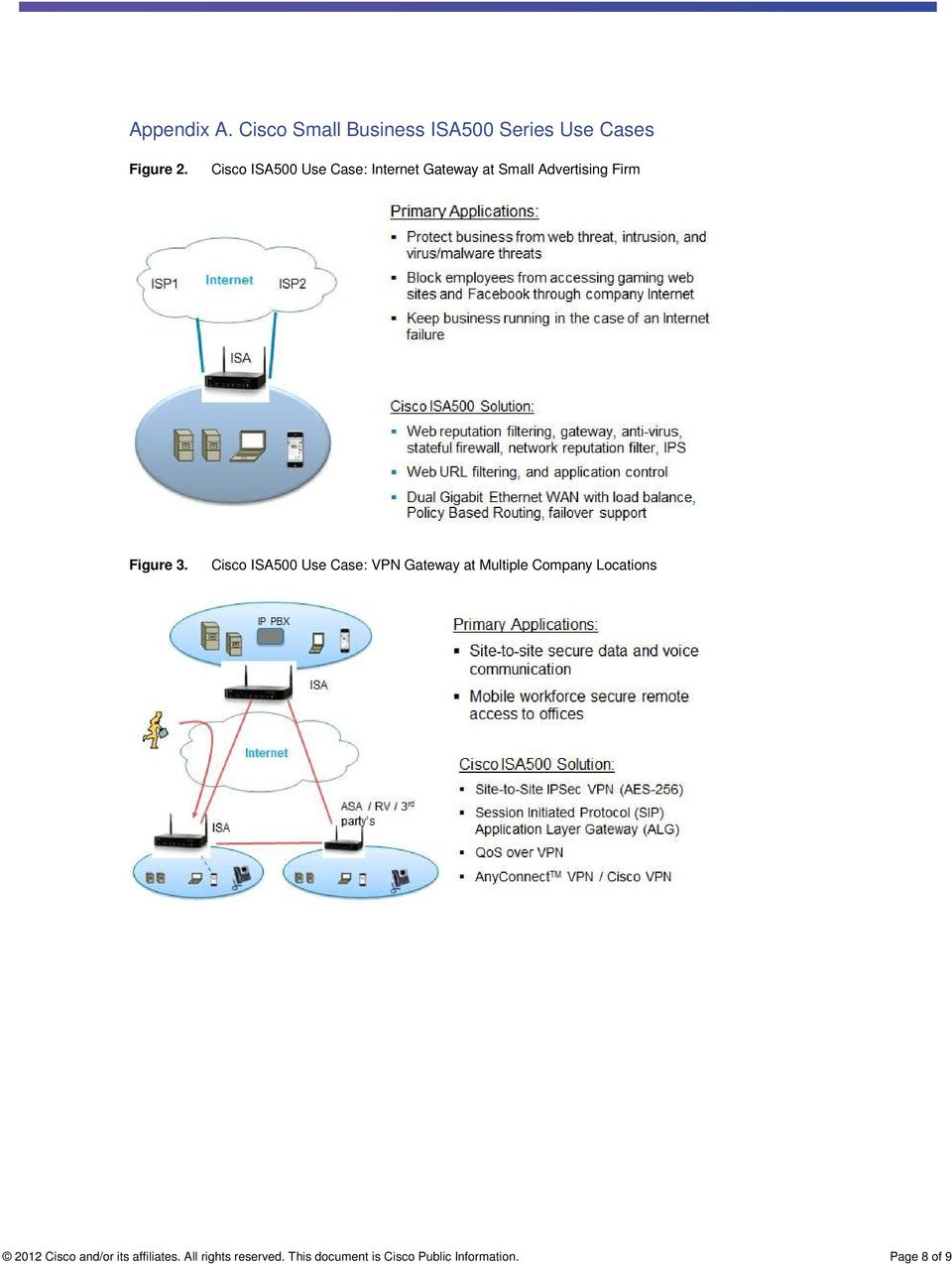 Cisco ISA500 Use Case: VPN Gateway at Multiple Company Locations 2012 Cisco