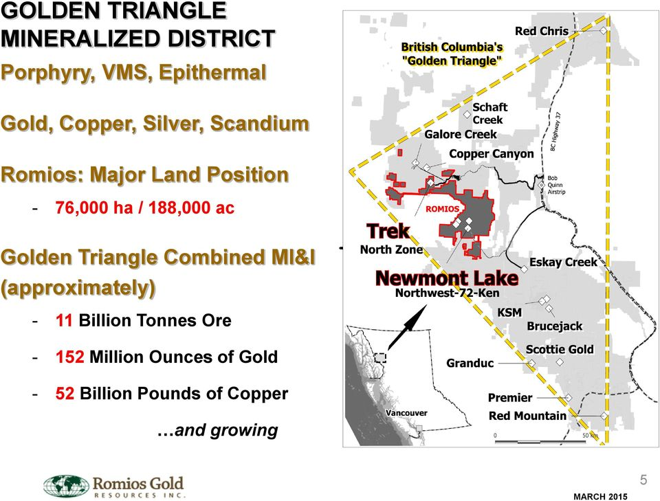 ha / 188,000 ac Golden Triangle Combined MI&I (approximately) - 11 Billion