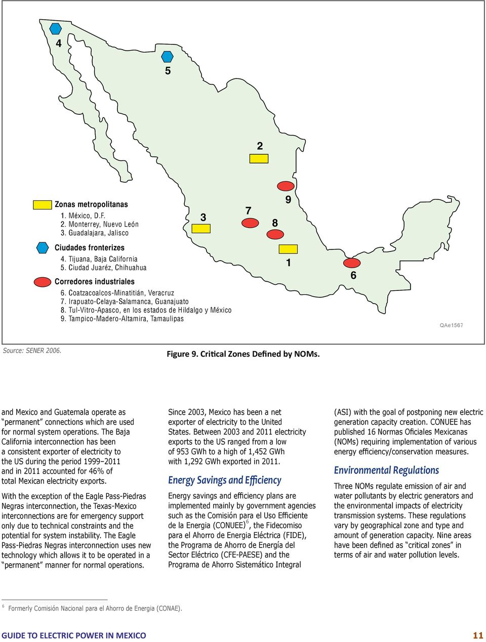 Tampico-Madero-Altamira, Tamaulipas 1 6 QAe1567 Source: SENER 2006. Figure 9. Critical Zones Defined by NOMs.