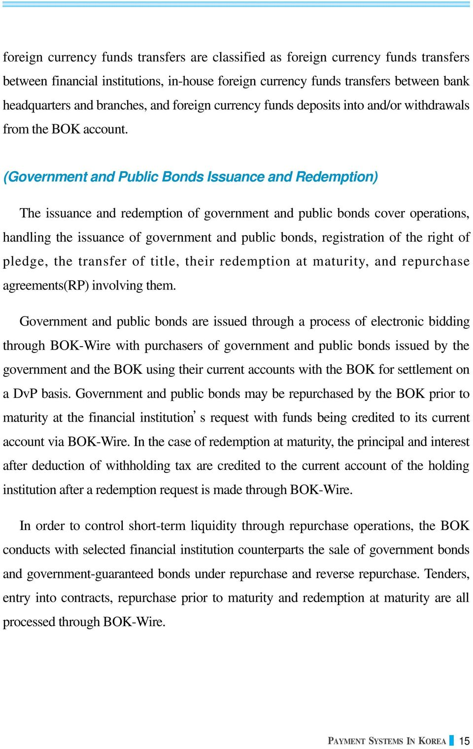(Government and Public Bonds Issuance and Redemption) The issuance and redemption of government and public bonds cover operations, handling the issuance of government and public bonds, registration