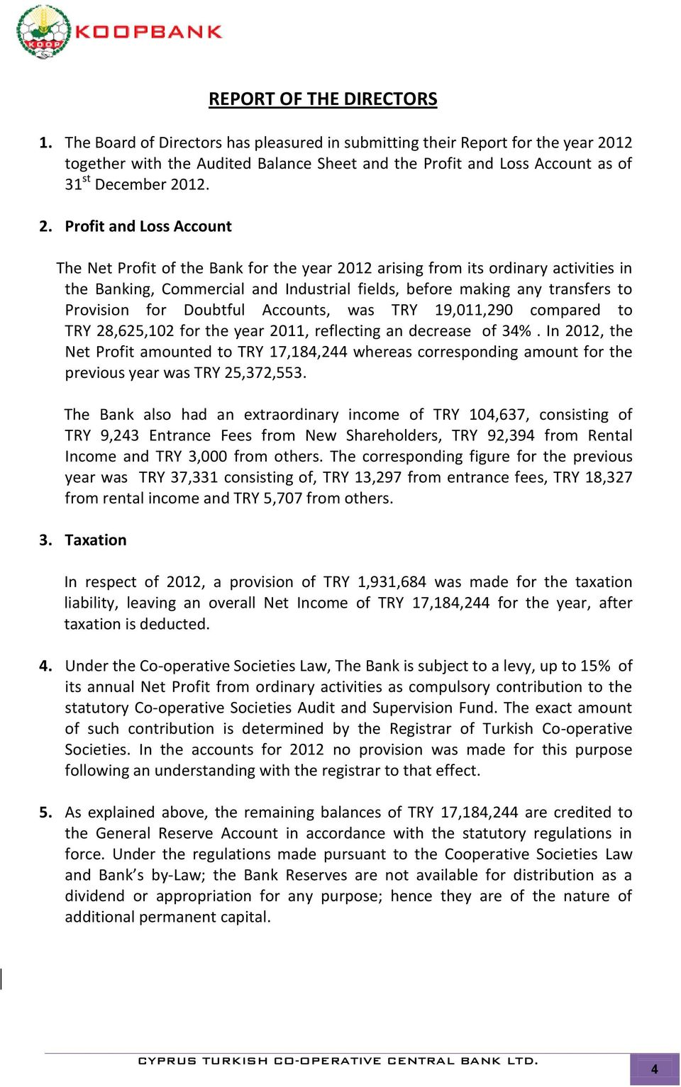 12 together with the Audited Balance Sheet and the Profit and Loss Account as of 31 st December 20