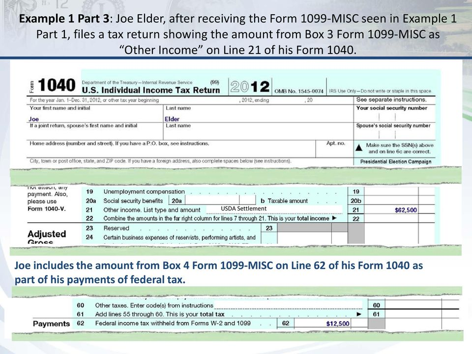 Income on Line 21 of his Form 1040.