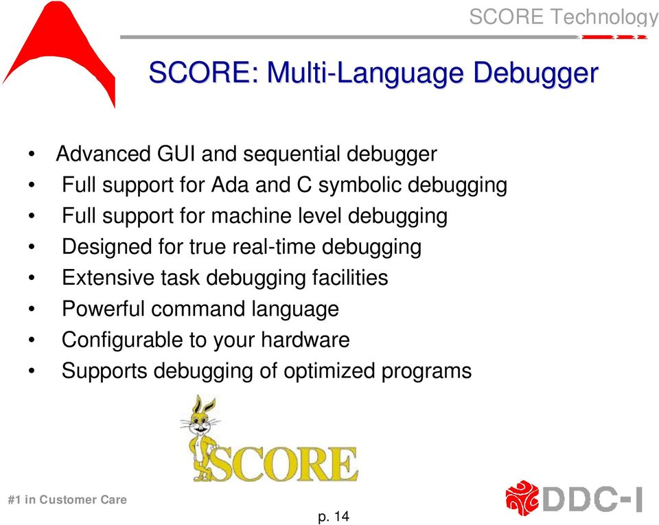 for true real-time debugging Extensive task debugging facilities Powerful command