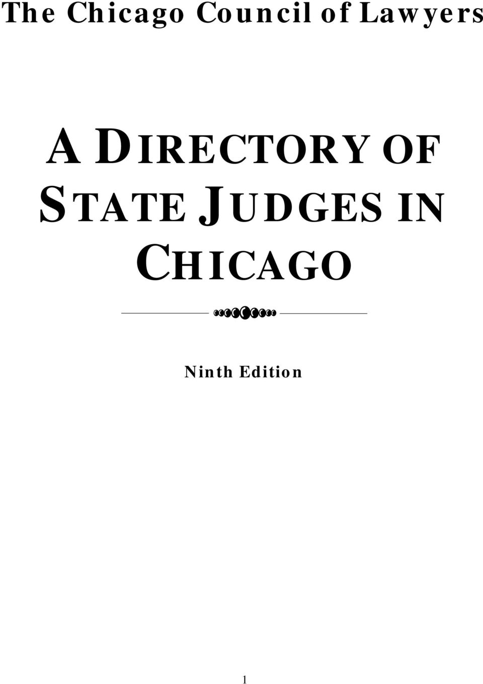 DIRECTORY OF STATE