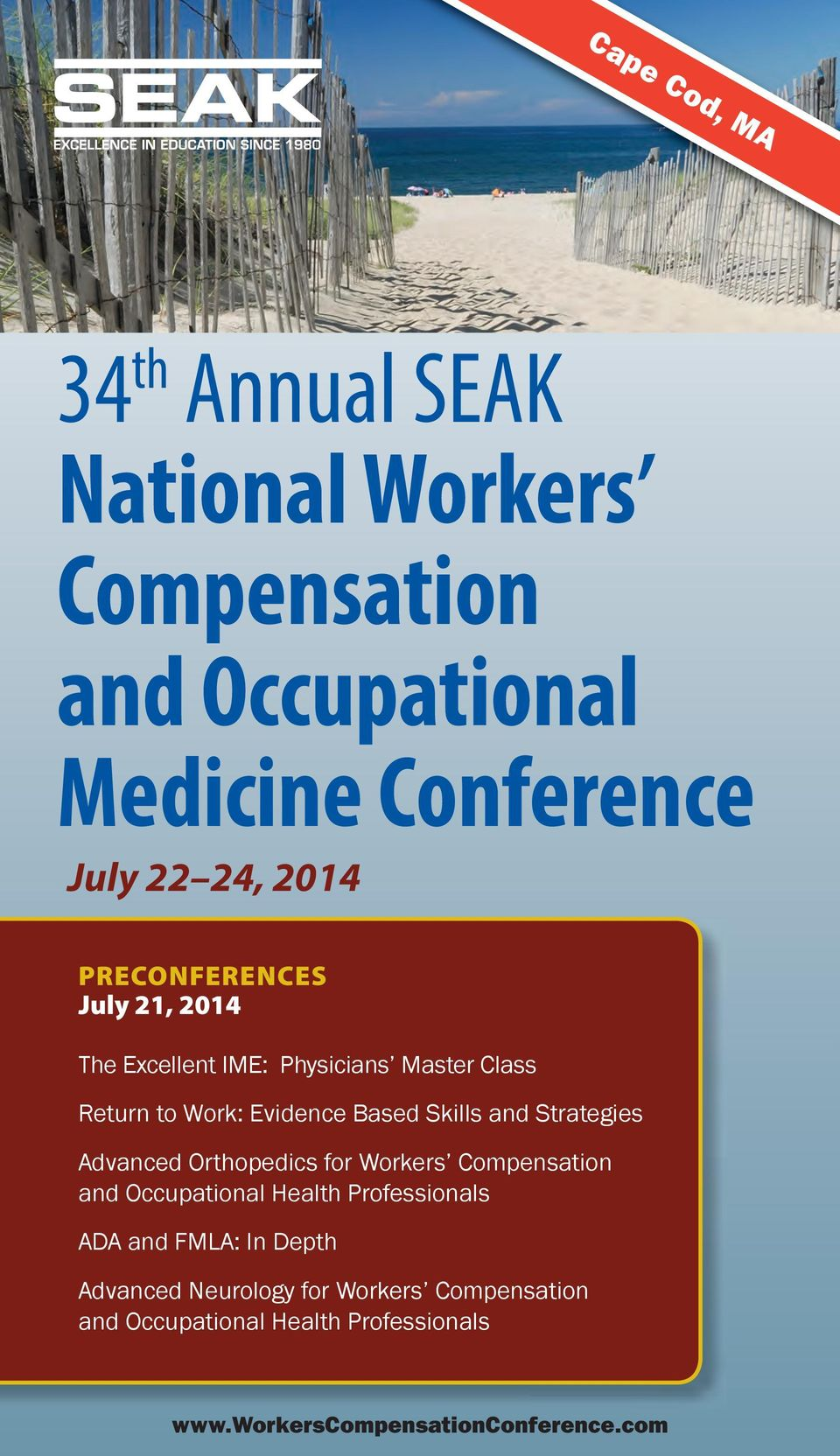 Strategies Advanced Orthopedics for Workers Compensation and Occupational Health Professionals ADA and FMLA: In