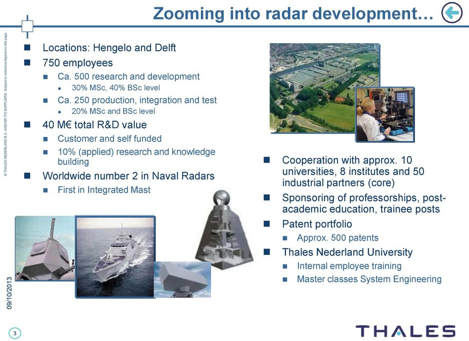 number 2 in Naval Radars First in Integrated Mast Cooperation with approx.