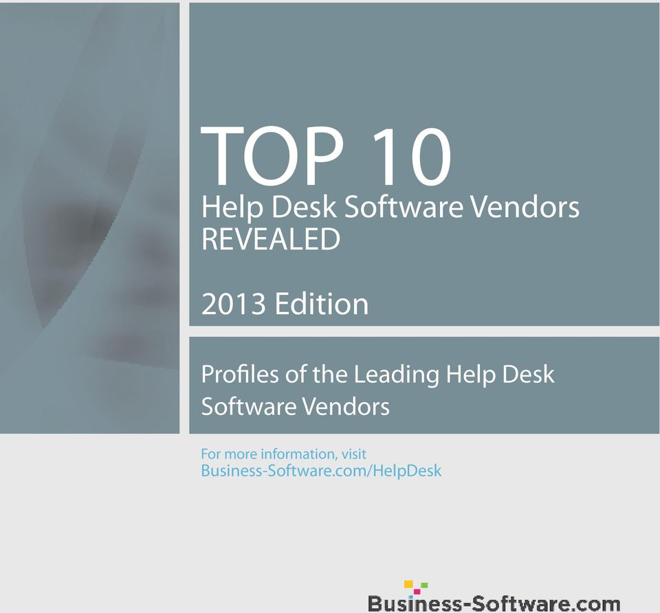Leading Help Desk Software Vendors For