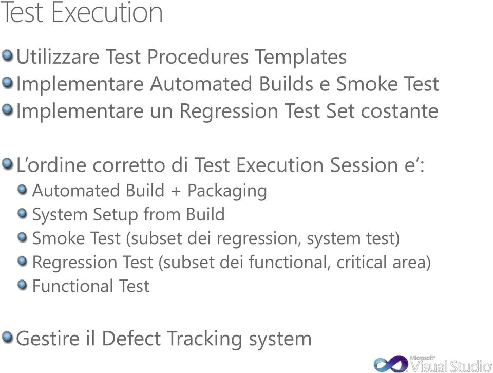 Automated Build + Packaging System Setup from Build Smoke Test (subset dei regression, system