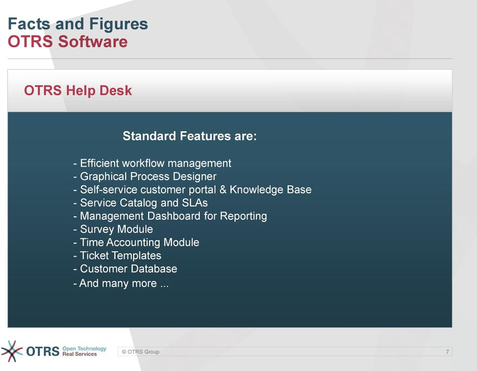 Knowledge Base - Service Catalog and SLAs - Management Dashboard for Reporting -