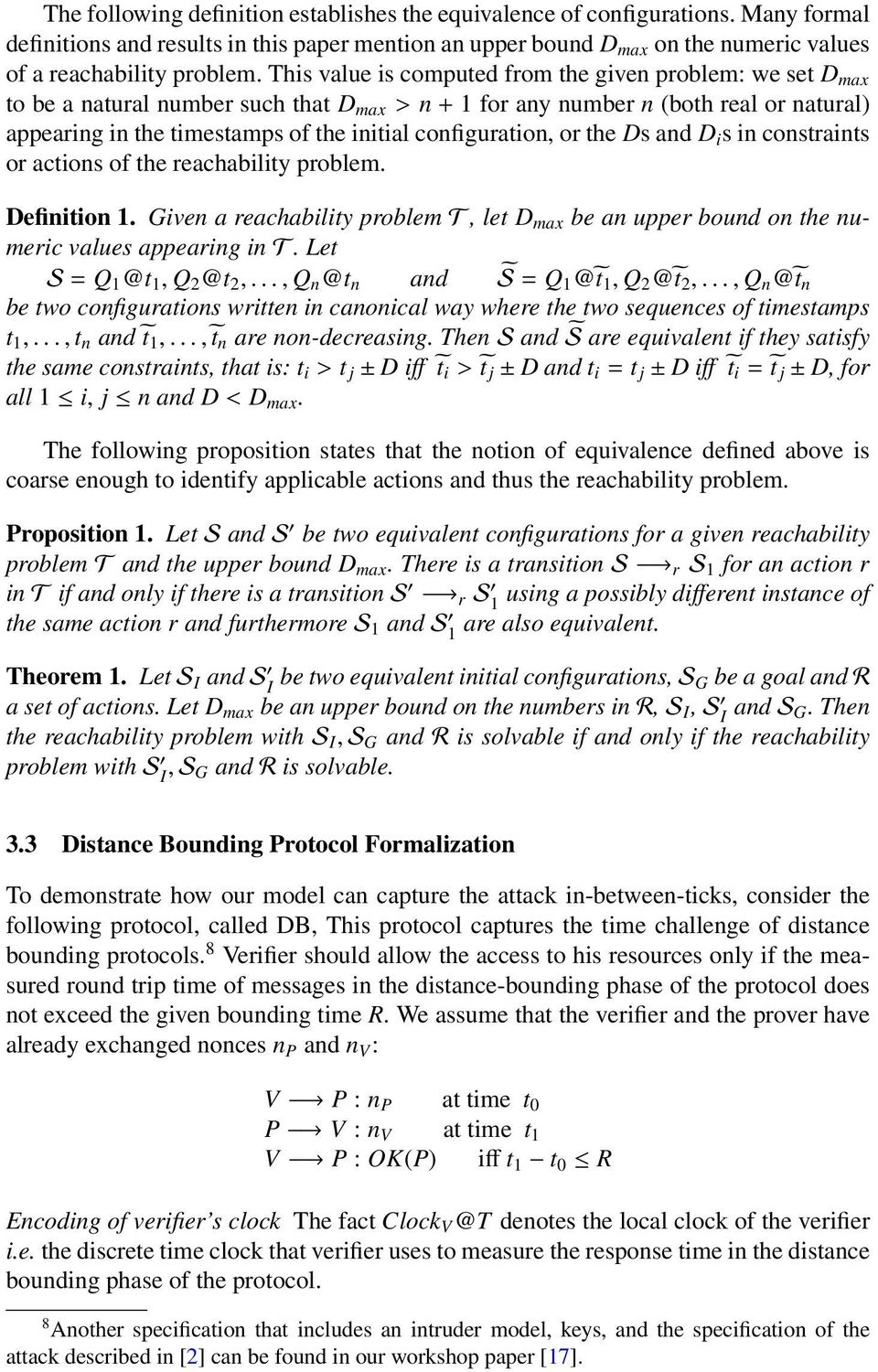 configuration, or the Ds and D i s in constraints or actions of the reachability problem. Definition 1.