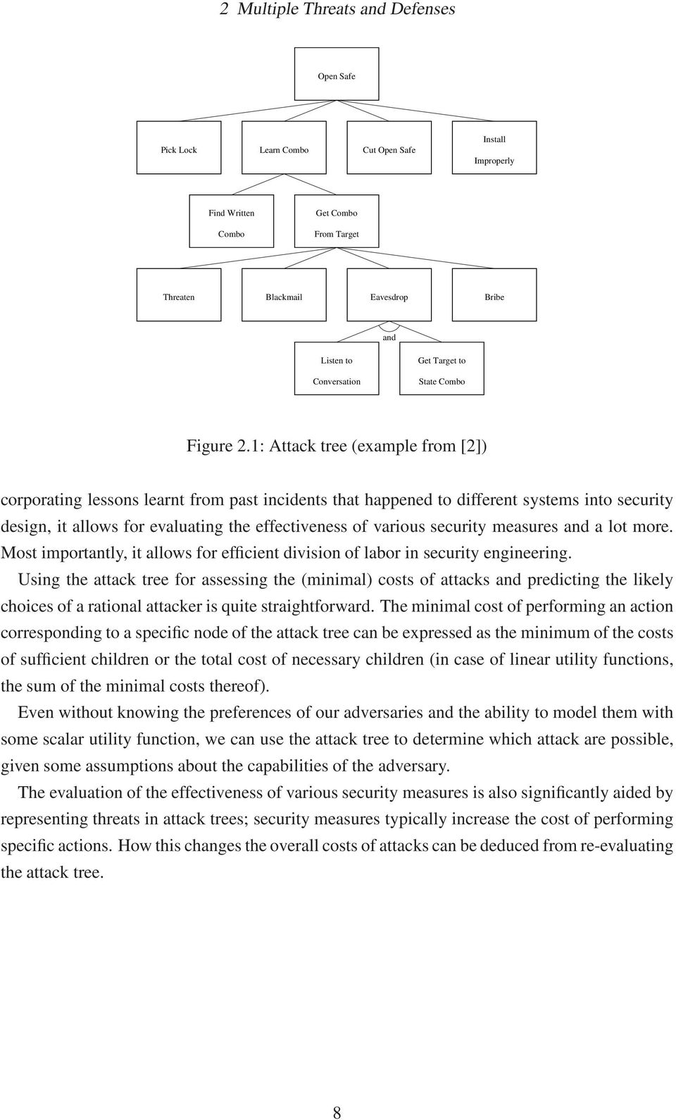 1: Attack tree (example from [2]) corporating lessons learnt from past incidents that happened to different systems into security design, it allows for evaluating the effectiveness of various