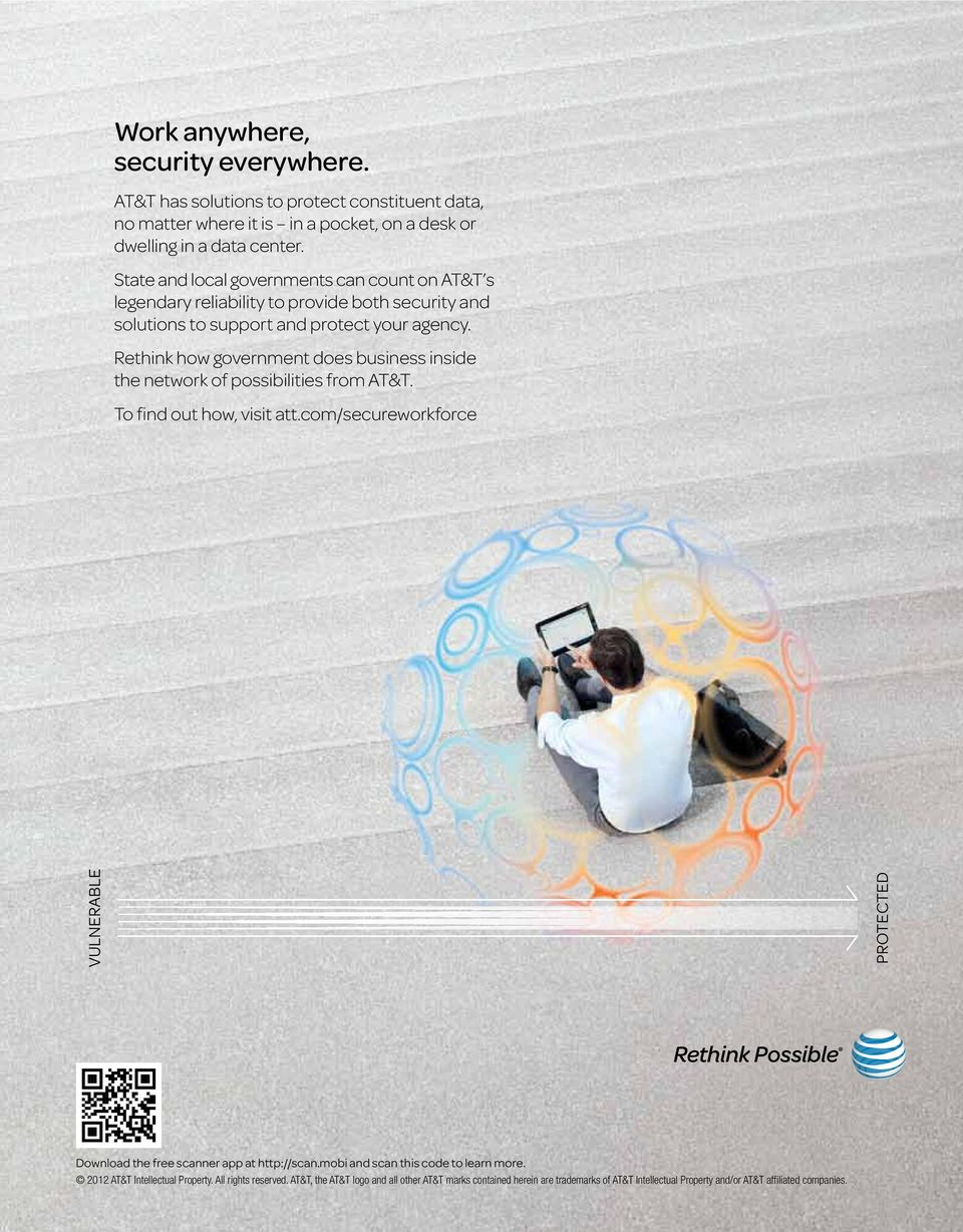 Rethink how government does business inside the network of possibilities from AT&T. To find out how, visit att.