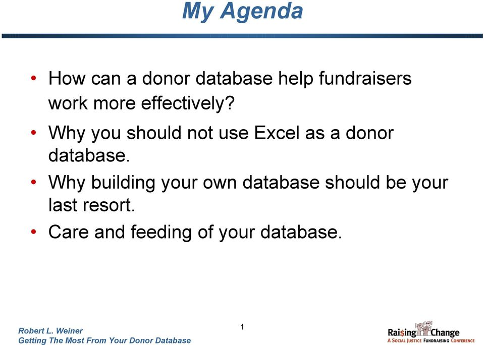 Why you should not use Excel as a donor database.
