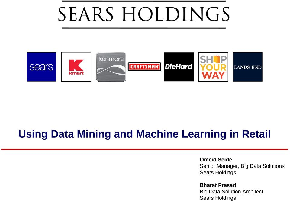 Data Solutions Sears Holdings Bharat