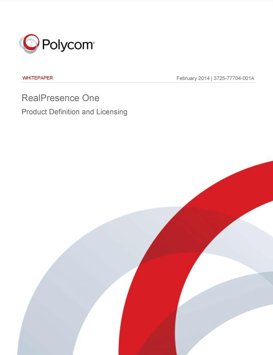 RealPresence One Product