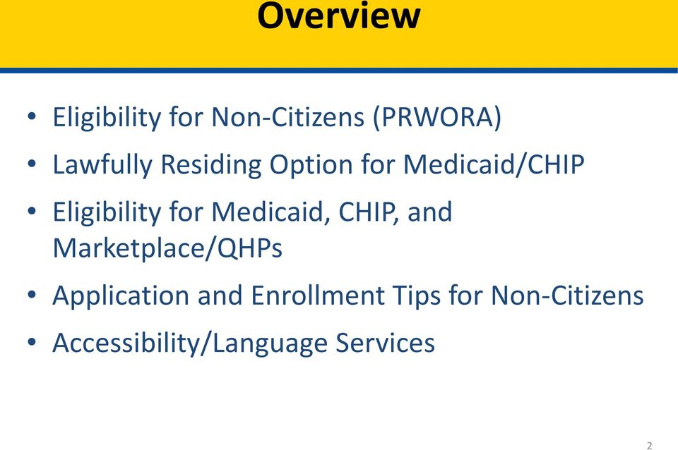 Medicaid, CHIP, and Marketplace/QHPs Application and