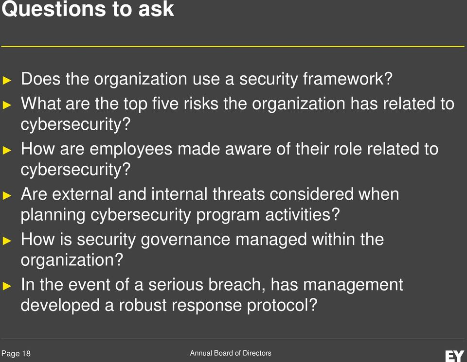 How are employees made aware of their role related to cybersecurity?