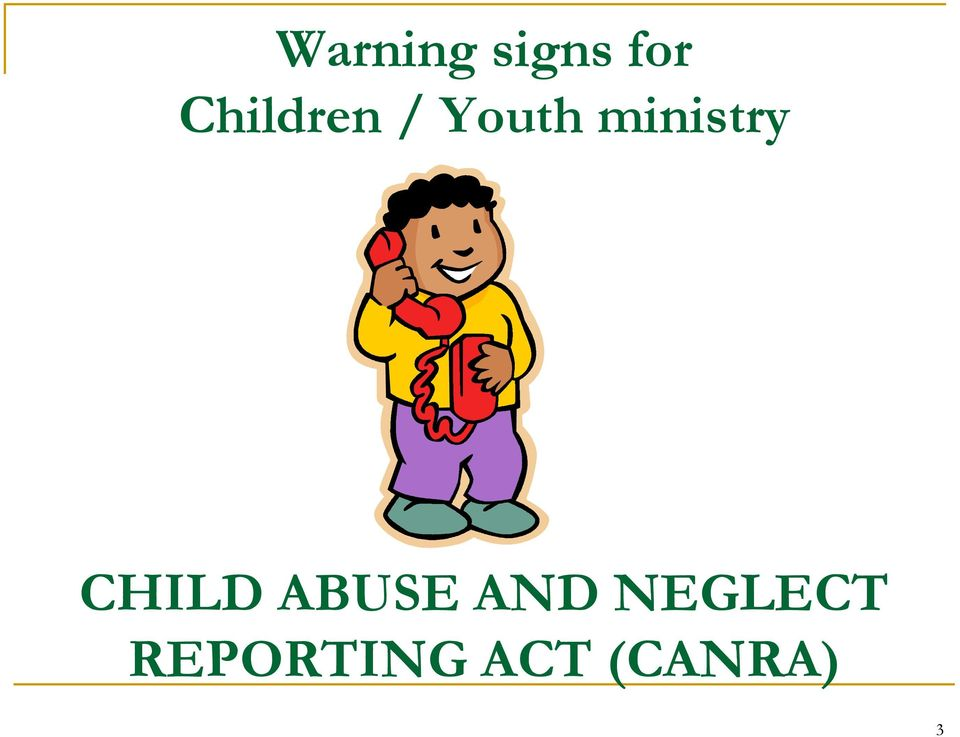 ministry CHILD ABUSE